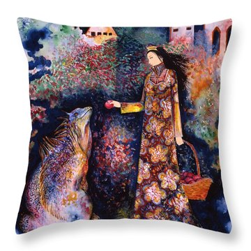 Taming Of The Dragon Throw Pillow