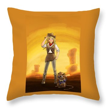Tammy And Alfred Tame The West Throw Pillow