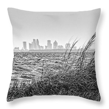Tampa Across The Bay Throw Pillow