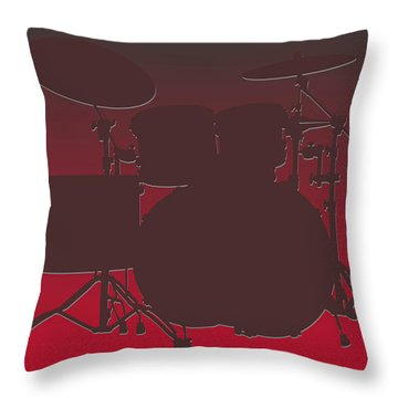 Tampa Bay Buccaneers Drum Set Throw Pillow by Joe Hamilton
