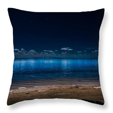 Tampa Bay Nights Throw Pillow