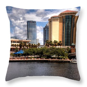 Throw Pillow featuring the photograph Tampa by Jim Hill