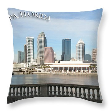 Tampa Skyline Throw Pillow