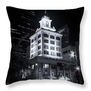 Tampa's Old City Hall Throw Pillow by Marvin Spates