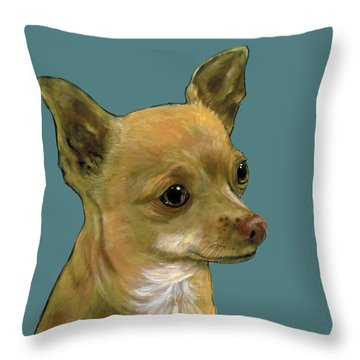 Tan Chihuahua Throw Pillow