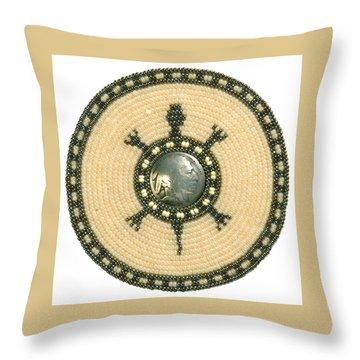 Tan Indian Turtle Throw Pillow