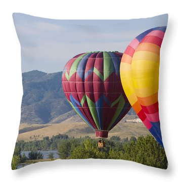 Tandem Balloons Throw Pillow