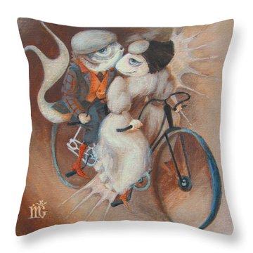 Tandem Throw Pillow by Marina Gnetetsky
