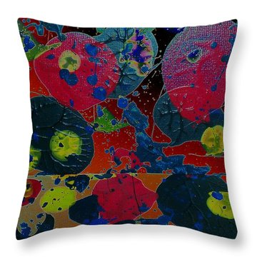 Throw Pillow featuring the painting Tangent by Jacqueline McReynolds