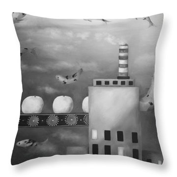 Tangerine Dream Edit 4 Throw Pillow by Leah Saulnier The Painting Maniac