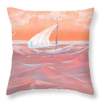 Tangerine Dream Throw Pillow
