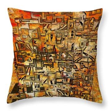Tangerine Dream Throw Pillow by Jack Zulli