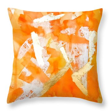 Tangerine Tango Throw Pillow by Roleen  Senic