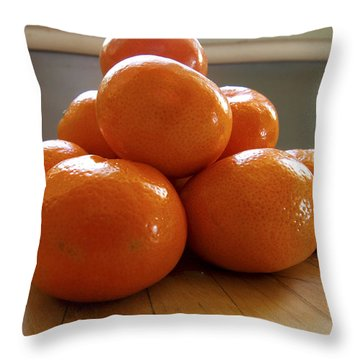 Throw Pillow featuring the photograph Tangerined by Joe Schofield