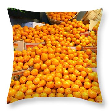 Throw Pillow featuring the photograph Tangerines by Merton Allen