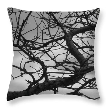 Tangled By The Wind Throw Pillow