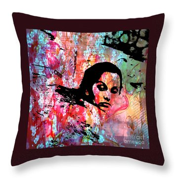 Tangled In Textures Throw Pillow by Randi Grace Nilsberg