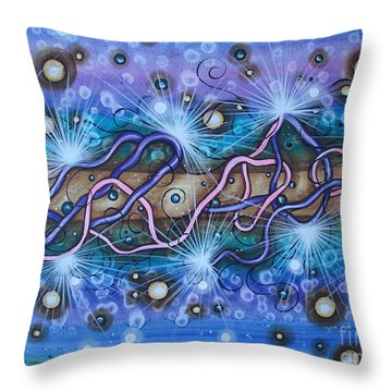 Tangled Throw Pillow by Krystyna Spink
