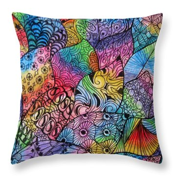 Tangled Leaves Throw Pillow by Megan Walsh