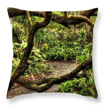 Throw Pillow featuring the photograph Tangled Path by Tyson Kinnison