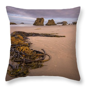 Tangled.... Bandon Oregon Throw Pillow