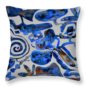 Tangled Up In Blue Throw Pillow by Beverley Harper Tinsley