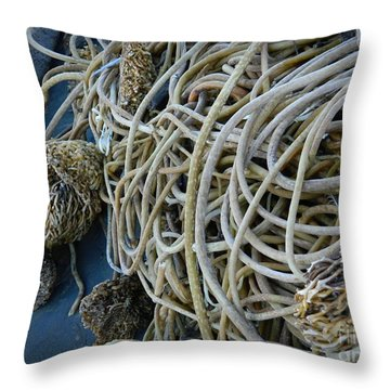 Tangles Of Seaweed 2 Throw Pillow by Chalet Roome-Rigdon
