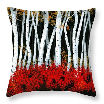 Throw Pillow featuring the painting Tanglewood by Michael Swanson