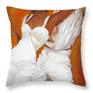 Tango Blanco Throw Pillow