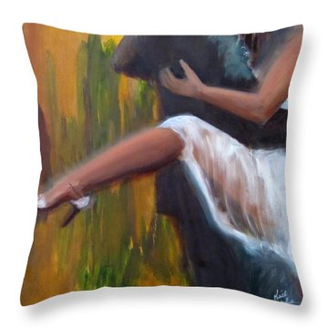 Tango On The Piazza Throw Pillow