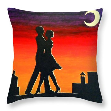 Tango On The Roof Throw Pillow