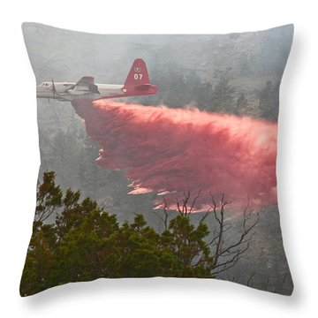 Tanker 07 On Whoopup Fire Throw Pillow