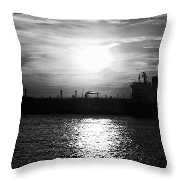 Tanker Twilight Throw Pillow