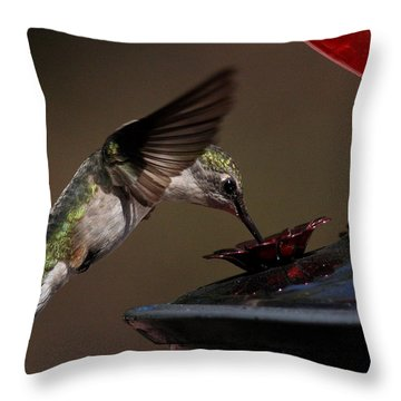 Tanking Up Throw Pillow by Douglas Stucky