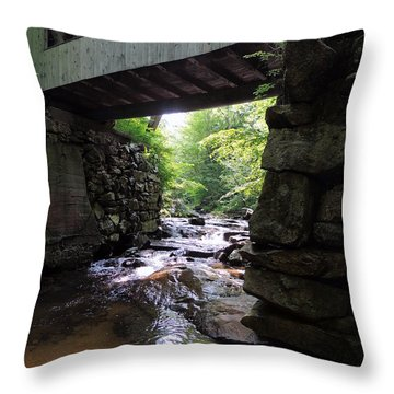Tannery Hill Bridge Throw Pillow