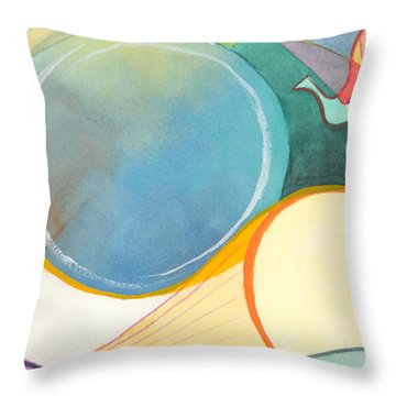 Tanning Time Throw Pillow