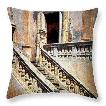 Taormina Staircase Throw Pillow by Carla Parris