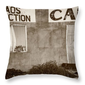 Taos Junction Cafe Throw Pillow by Steven Bateson