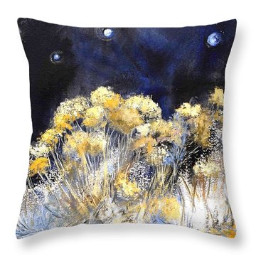 Taos Night Orbs Throw Pillow by Glory Wood