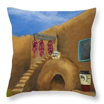 Taos Poetry Throw Pillow by Jerry McElroy