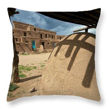 Throw Pillow featuring the photograph Taos Pueblo by Britt Runyon