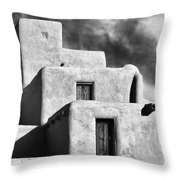 Taos Pueblo Stacks Throw Pillow