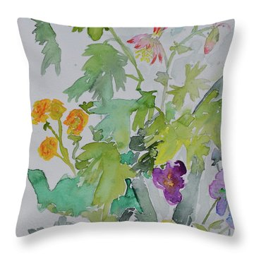 Throw Pillow featuring the painting Taos Spring by Beverley Harper Tinsley