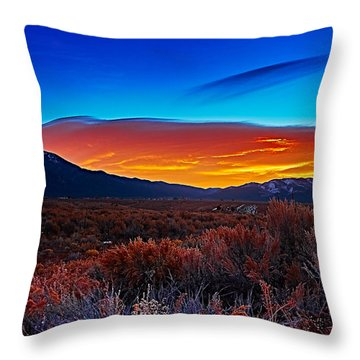 Taos Sunrise X Throw Pillow