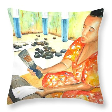 Tapa Stretch Throw Pillow