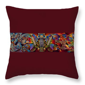 Tapestry Of Gods Throw Pillow