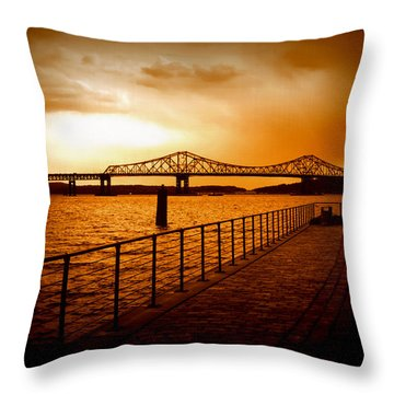 Tappan Zee Bridge Throw Pillow