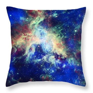 Tarantula Nebula 4 Throw Pillow by Jennifer Rondinelli Reilly - Fine Art Photography