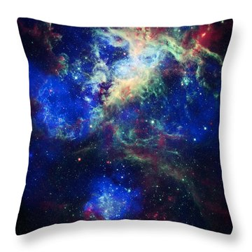 Tarantula Nebula 5 Throw Pillow by Jennifer Rondinelli Reilly - Fine Art Photography