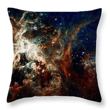 Tarantula Nebula Throw Pillow by Amanda Struz